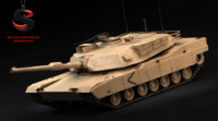 3d max heavy tank m1 abrams