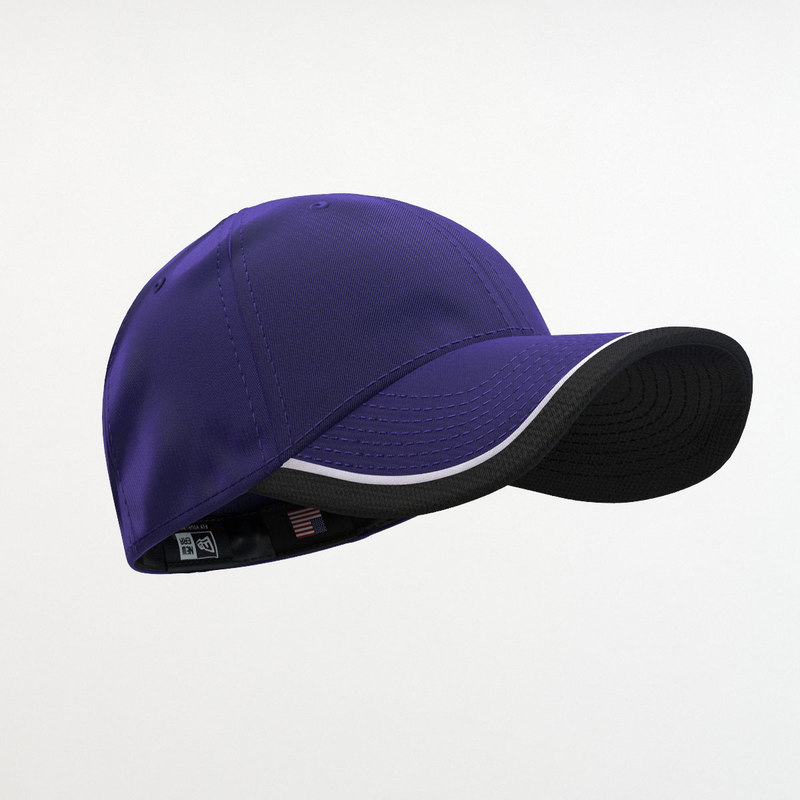 3d model - 39thirty cap purple