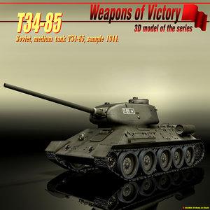 soviet tank t34-85 3ds