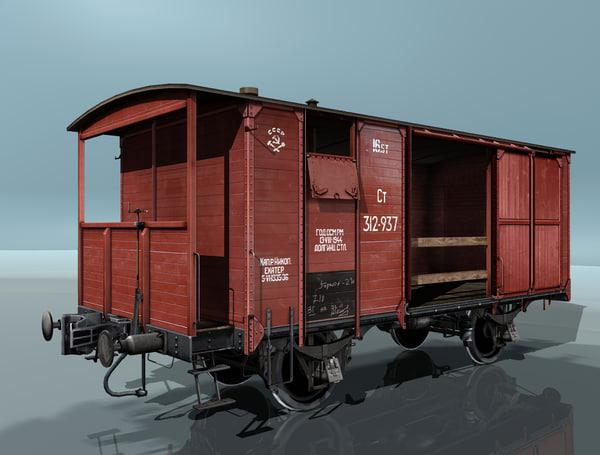 3d model boxcar ntv
