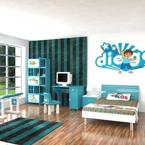 3d model room interior realistic