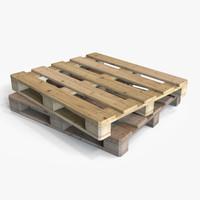 wooden pallet wood 3d model