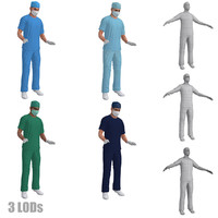 rigged surgeons pack s 3d model