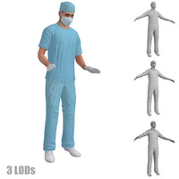 3d model rigged surgeons s 2