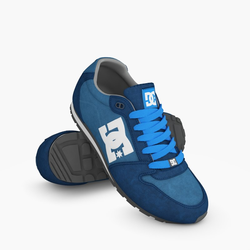 3d model dc shoes
