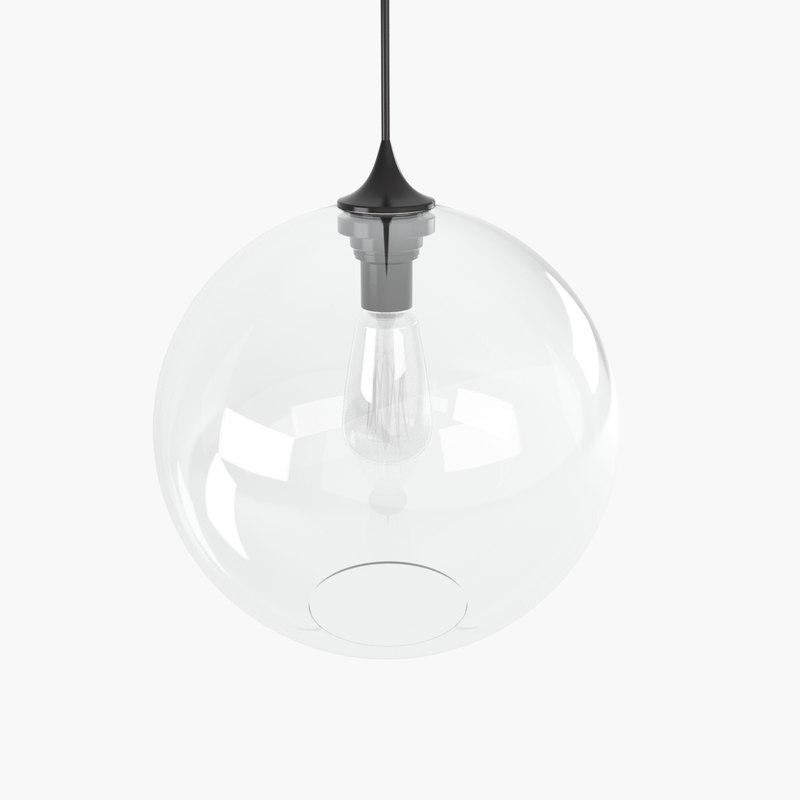 3dsmax solitaire pendant lamp