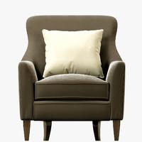 crate barrel clara chair max