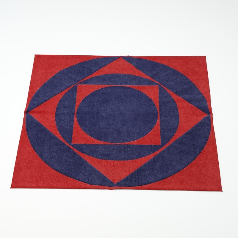 carpet design 3d model
