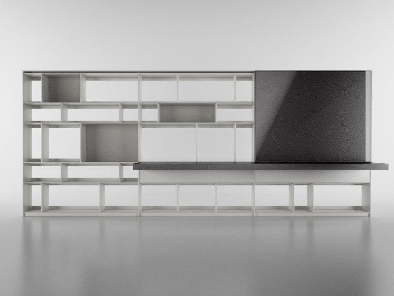 3d b bookcase 3 -