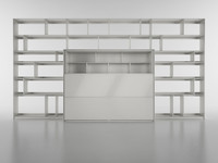 B&B Bookcase 5 - 450x235x25/55 cm - N.05 in M4D Vol.6