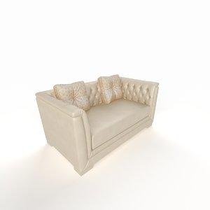 classic sofa double 3d model