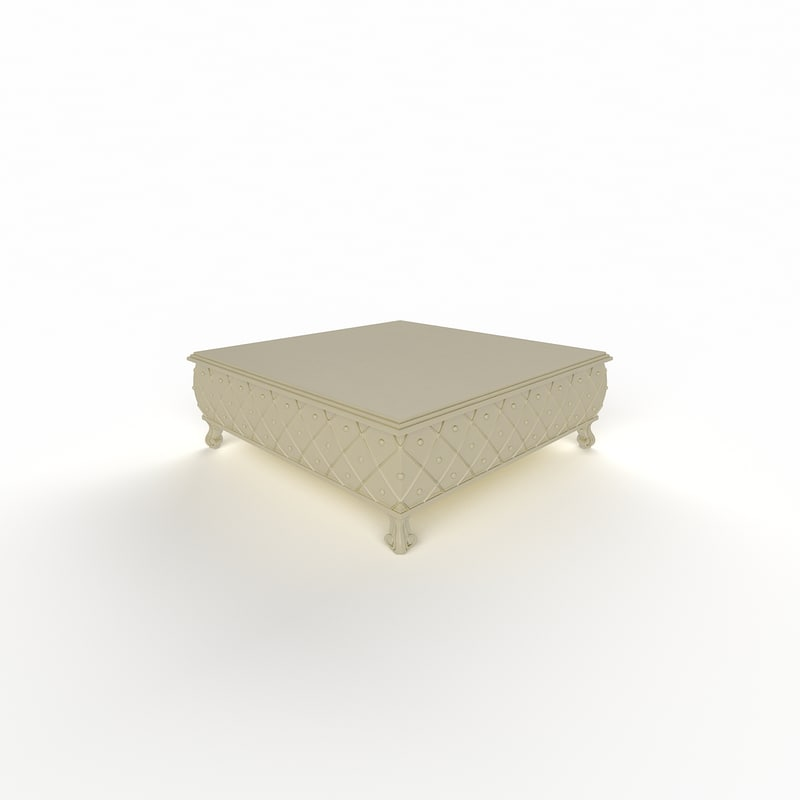 3d model classic table tea