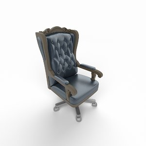3d model of classic boss chair