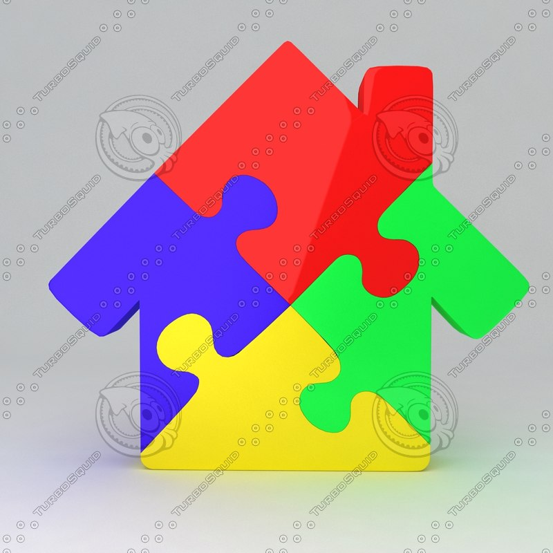 icon puzzle house max