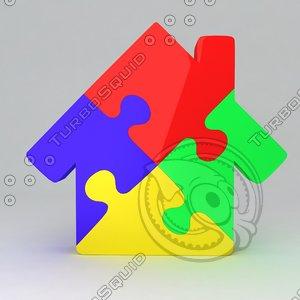 icon puzzle house max