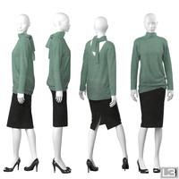 3ds max woman mannequin