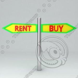board icon rent 3d model