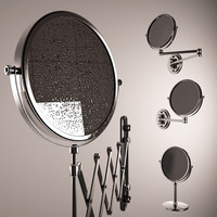 Magnifying mirror for shaving with drops