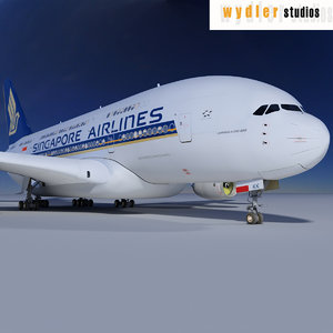 3d airbus a380 singapore airlines