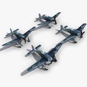 fw190 2 modeled 3d model