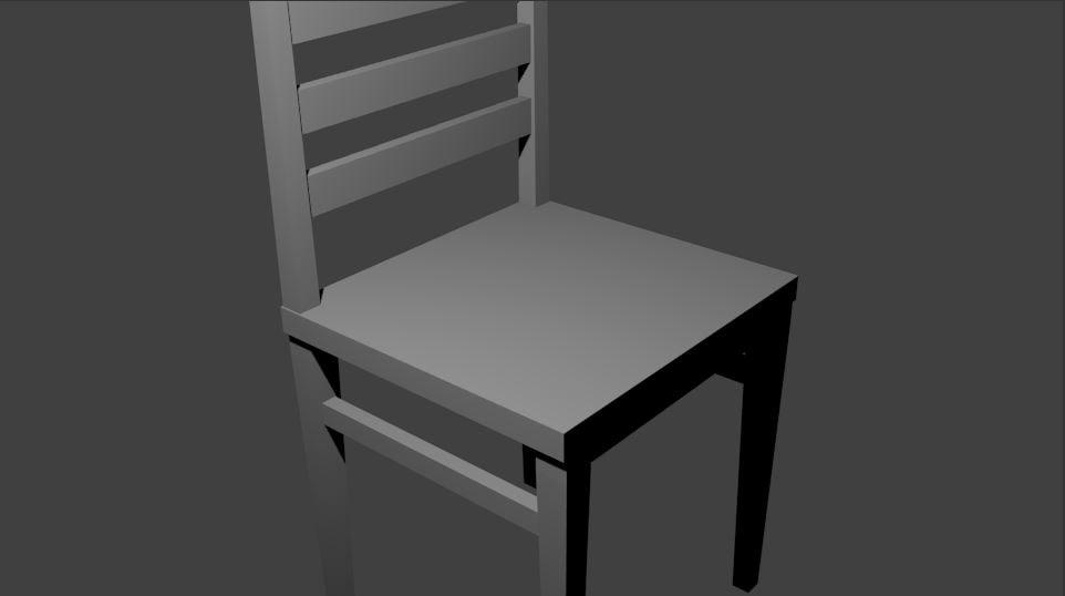 3d model simple chair