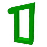 Green number 1