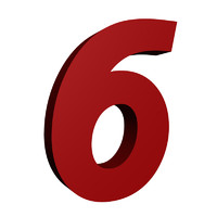 Red number 6