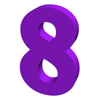 Purple number 8
