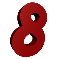 Red number 8