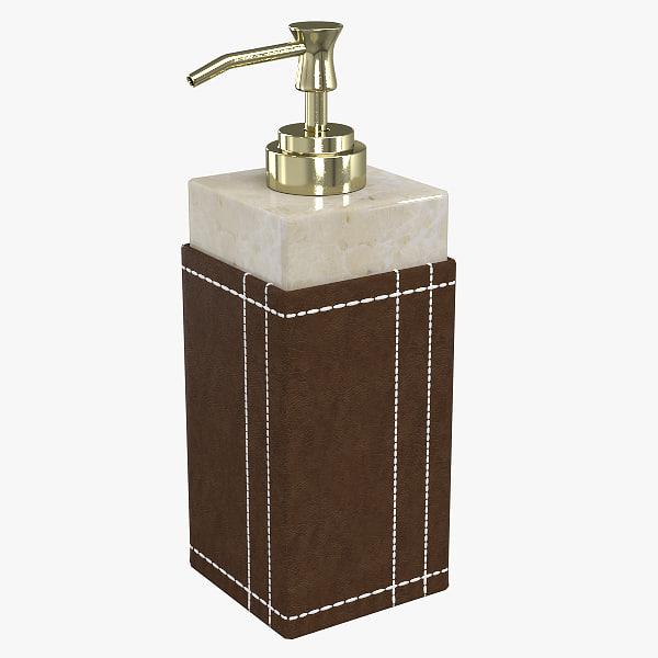 free beechwood lotion pump 3d model