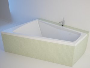3d bathtub duravit paiova model