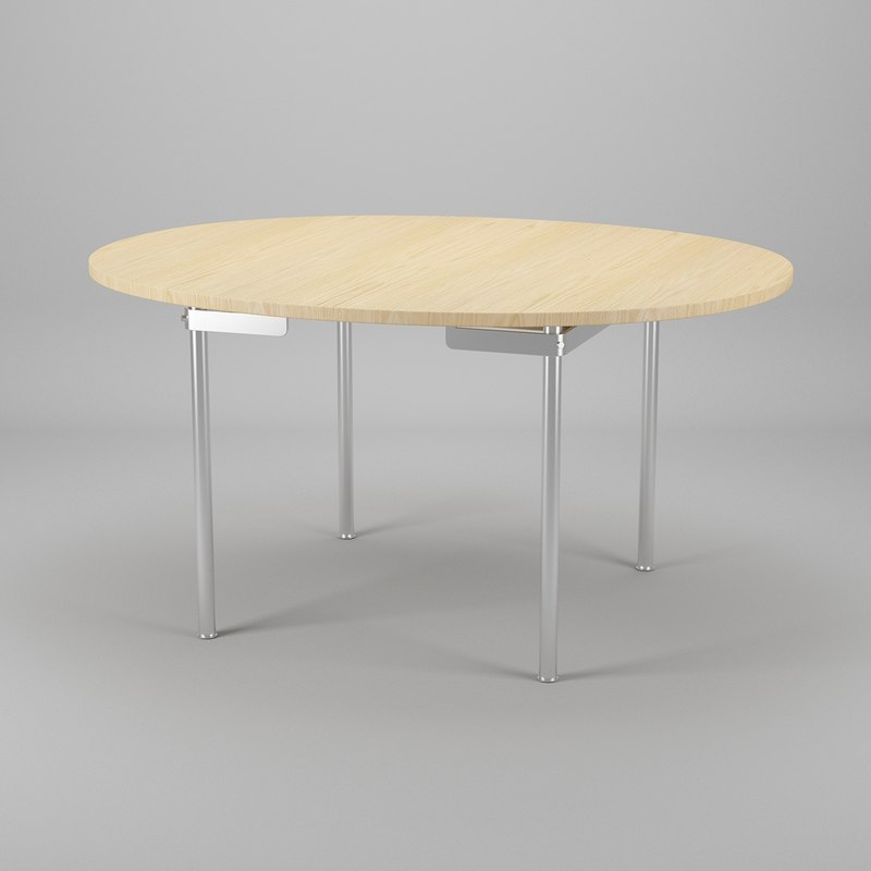 3ds max table hans j wegner