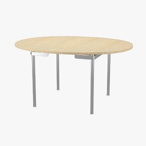 3ds max table hans j wegner