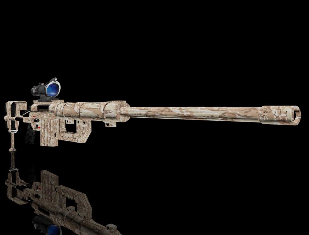 m200 sniper 3d model