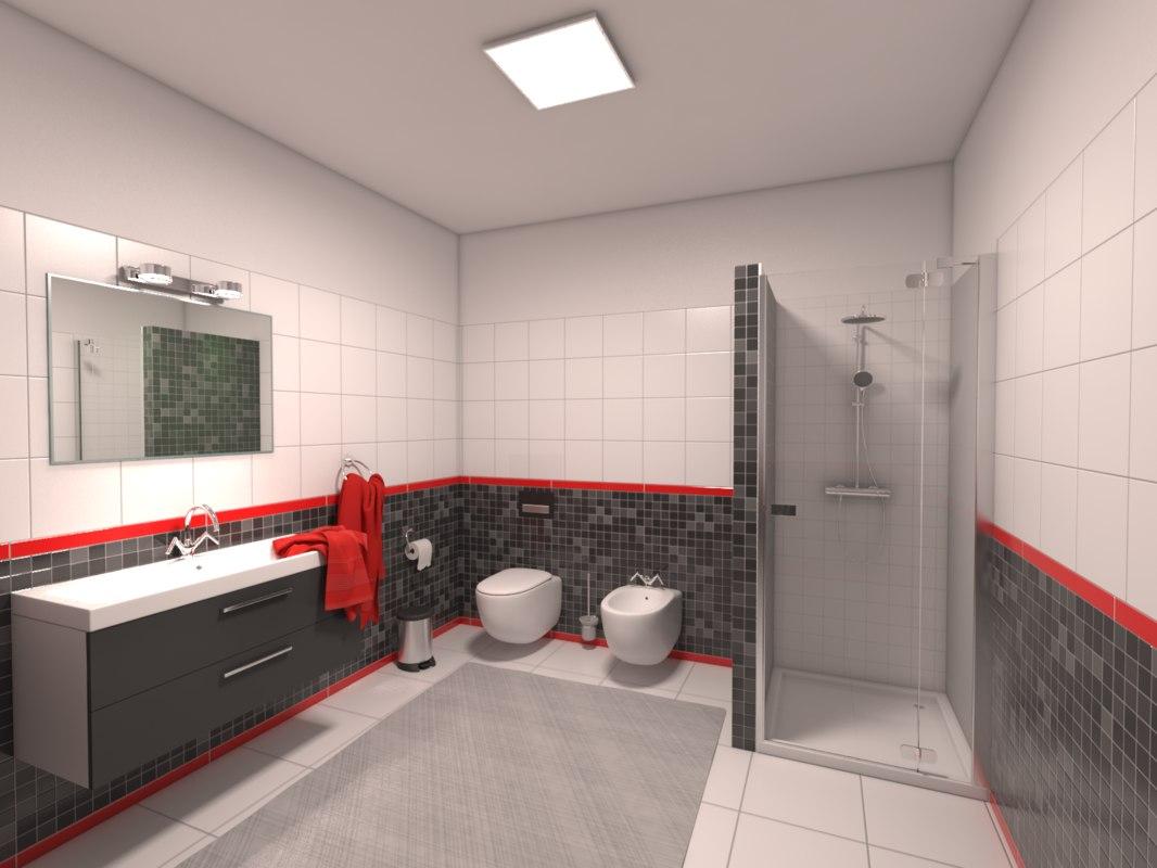 bathroom bath 3d max