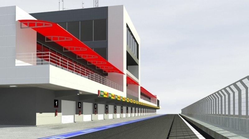 pit stop building 3d model