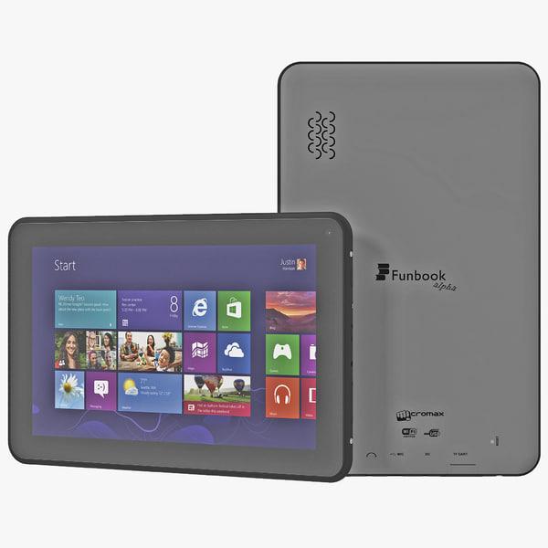 micromax funbook alfa p250 3d model