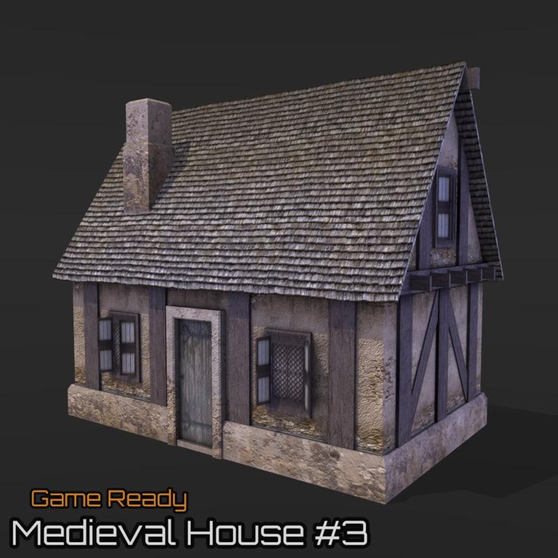 ready medieval house 3d x