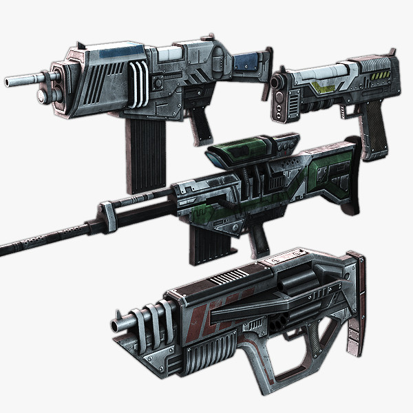 3d model ready fps weapon rifle