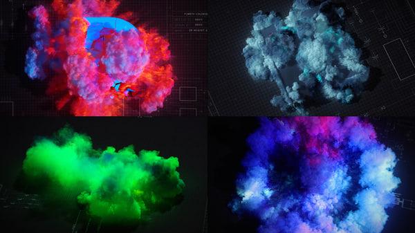 free fumefx particle explosion 3d model