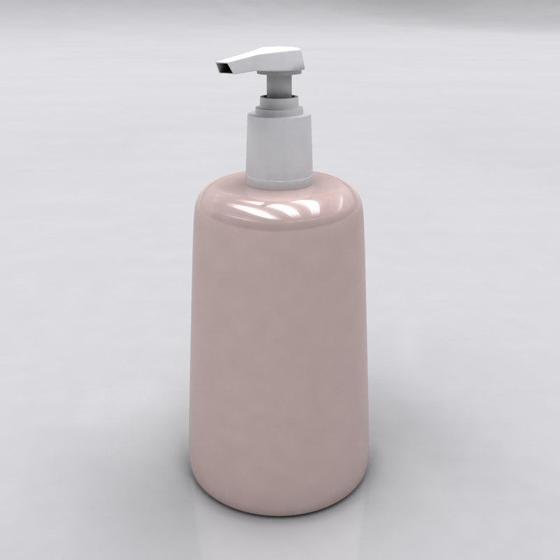 3d liquid soap model