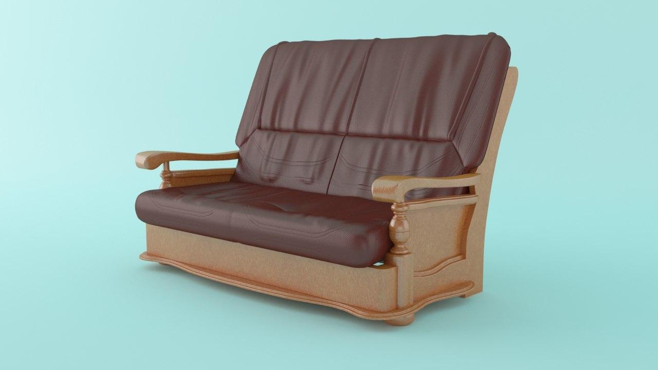 2 seater sofa 3d max