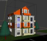 building exterior 3d 3ds