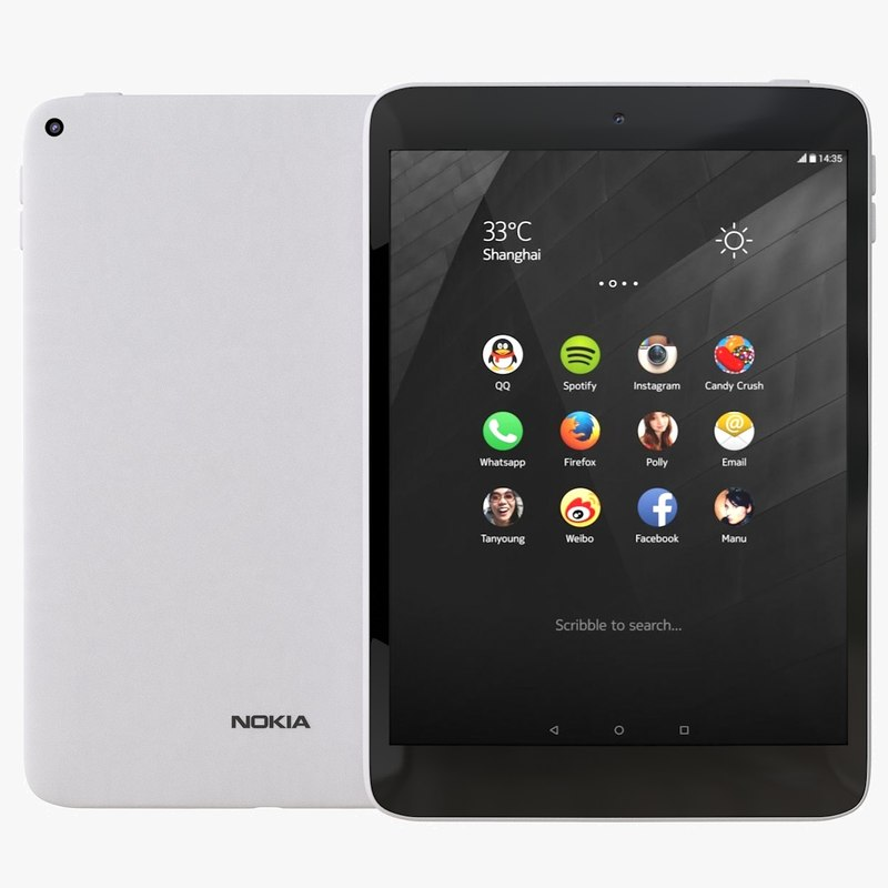 nokia n1 natural aluminum 3d 3ds