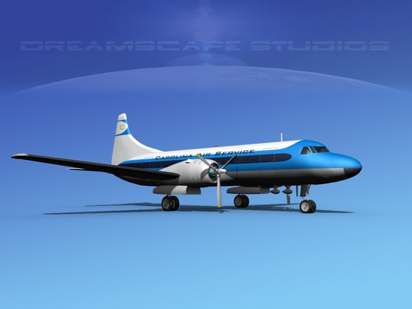 3d model of propellers convair 340