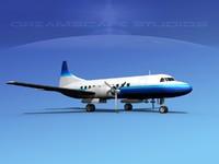 propellers convair 340 3d model