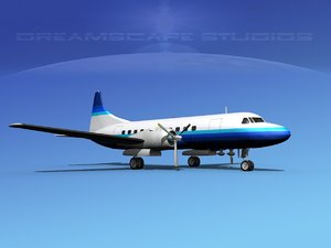 propellers convair 340 3d model