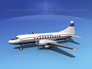 propellers convair 340 3d dxf