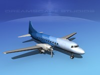 propellers convair 340 transport 3ds