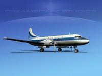 3d propellers convair 340 model